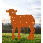 Curly Lamb Silhouette in Ornage