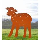 Iron Curly Lamb Silhouette in Orange