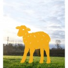 Curly Lamb Silhouette in Yellow
