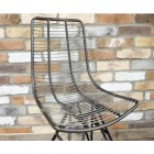 Curved Wire Metal Chair