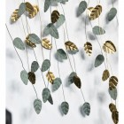 Dangling Leaves Wall Art Finished in Gold and Green