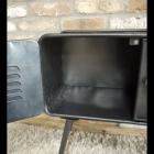 Dark Grey Retro Inspired Cabinet With Opening Front Door