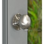 Round Brushed Nickel Door Knobs