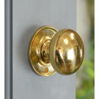 50mm Round Polished Brass Door Knobs