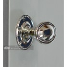 Oval Bright Chrome Door Knob