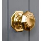 Victorian style brass exterior door knob