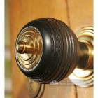 Door Knob In Fine Hand Turned Ebony Wood Pevonsey