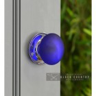 Blue Frosted Glass Door Knob in Situ