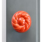 Front face view of Strawberry Swirl style door knob