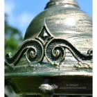Decorative Detailing on olive green lantern