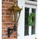 Decorative Gothic porch lantern on bracket