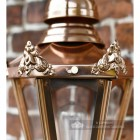 Detailed image of copper finish lantern