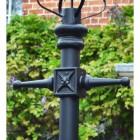 Black  Concordia Hexagonal Extra Large Lantern & Lamp Post Set
