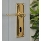 Brass Victorian Curved Handle Deluxe