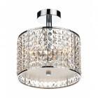Diamond Glass Designed Bright Chrome Hanging Light