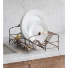 Antique Brass Dish Drying Rack