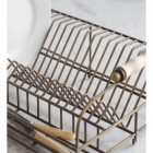 Antique Brass Dish Drying Rack Close Up