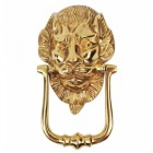 """""""Downing Street"""" Lion Door Knocker Finished in Polished Brass"""
