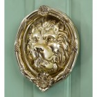 Large Sandringham lion door knocker on Green door