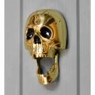 Polished Brass novelty skull door knocker