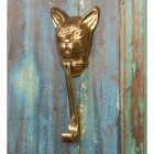 Polished Brass Cat Head Door Knocker