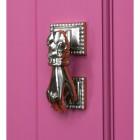 Bright Chrome Hand Door Knocker