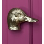Polished Brass Duck Door knocker