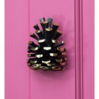 Solid Brass Pine Cone Door Knocker