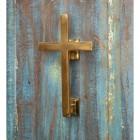 Polished Brass Cross Door Knocker