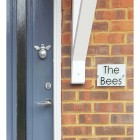 """Customer Photo from Emma Perry """"I am so totally in love with my bumble bee door knocker! Our nickname is the bees so the perfect finishing touch,  Thank you for your fabulous service and quick delivery"""""""