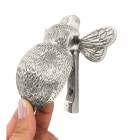 Bright Chrome Bumble Bee Door Knocker with hand