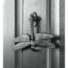 Dragonfly Door Knocker - Cast Iron On Front Door