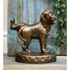 Warm bronze finish doggy door stop