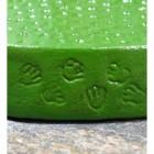Close up of cast paw print pattern