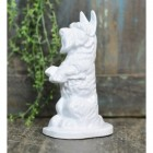 Cast Iron Dog door Stop Finished in White