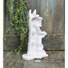Back View of the White Dog Door Stop