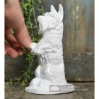 "White Cast Iron ""Digby"" Dog Door Stop to Scale"
