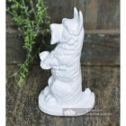 White Cast Iron Dog Door Stop