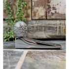 golf Ball door stop finished in chrome