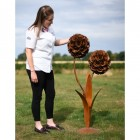Size of the Large Rustic Flower Sculpture