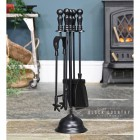 "Black ""Duchess"" Iron Fireside Companion Set"