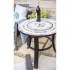 """Durango"" Firepit & Ceramic & Steel Firepit Being Used as a Side Table"