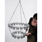 """Effies Jupiter"" hanging tea light chandelier"