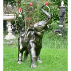 Elephant Calf Water Fountain Finished in Bronze