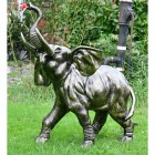 Cast Aluminium Elephant Water Fountain  Finished in Bronze
