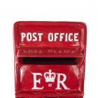 The Embossed Wording on the Front of the Post Box