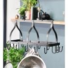 """""""Ellesmere"""" Hanging Saucepan Rack in Situ"""
