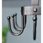 Close-up of the Hooks on the Saucepan Rack