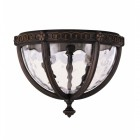 Flush Bronze Ceiling Light With Water Glass