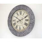 Embossed Patterned Wall Clock
